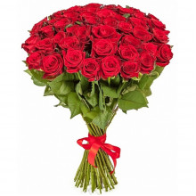 51 red roses 80 cm