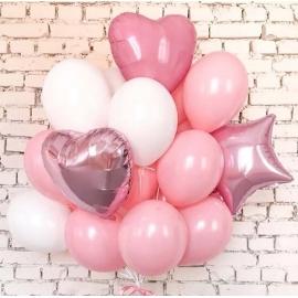 """Eine Wolke von Luftballons """"Zarte Liebe"""""""